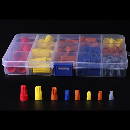 102Pcs Practical Electrical Wire Connection Screw Twist Connector Cap W/Spring Insert Assortment Kit Nut Spring Cap Terminal