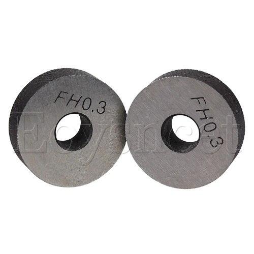 2pcs Silver Anti Slip 0.3mm Pitch Diagonal Coarse Knurl Wheel Knurling Roller