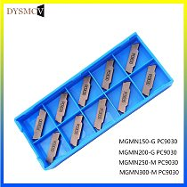 10PCS MGMN300 M PC9030 turning tools carbide inserts Lathe CNC cutter MGMN 300 parting and grooving part