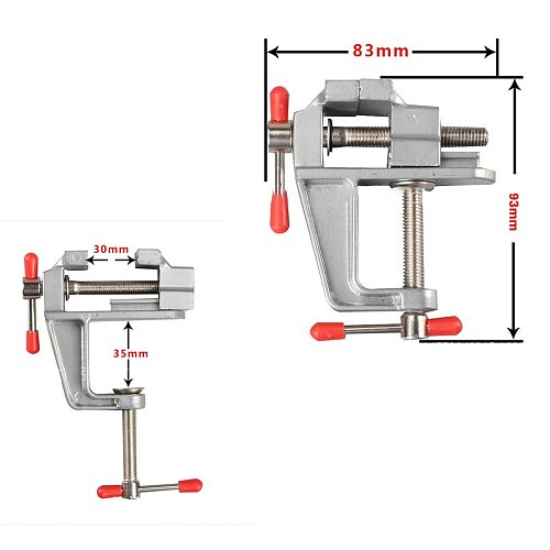 Mini Bench Vise Table Screw Vise Aluminium Alloy 30mm Table Bench Clamp Vise for DIY Craft Mold Fixed Repair Tool