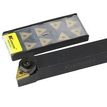 1pc WTJNR2020K16 WTJNR 1616H16 WTJNR2525M16 External Triangul Turning Tool Holder TNMG Carbide Inserts Lathe Cutting Tools Set