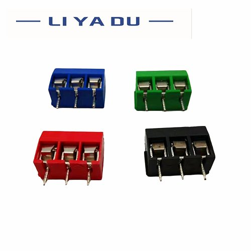 20PCS/LOT KF301-3P Splicing, screw type PCB spacing 5.0 connector terminals, terminal Blue/greenRed/black kf301