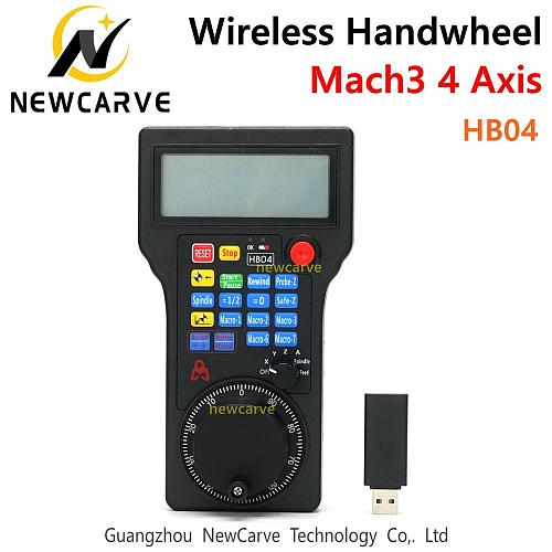 HB04 CNC Mach3 4 Axis MPG Wireless Handwheel Mach3 Pendant Pulse 50PPR Optical Encoder Generator For CNC Router NEWCARVE