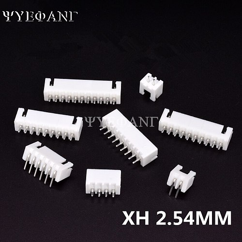 50Pcs/lot XH 2.54MM Connector 2/3/4/5/6/7/8/9/10P 12Pin 2.54mm Male Straight / Looper needle Socket Connectors FOR PCB BOARD