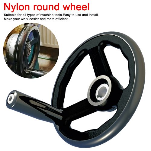 1pcs Black Milling Machine Lathe CNC 3D Printer Spoked Hand Wheel Wavy Round bakelite three handwheel 100/125/160/200/250mm