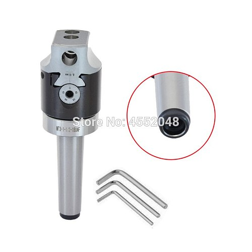 MT3 taper, MT3- F1-18 75mm boring head with MT3 shank and 12pcs 18mm boring bars set, best quality