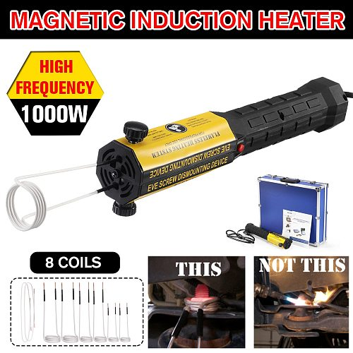 Magnetic Induction Heater 8 Coils Bolt Heat Remover Tool Kit 220V/110V Flameless Induction Heater Car Disassembly Repair Tool