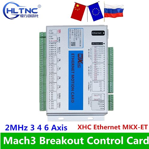 XHC Ethernet Mach3 Breakout Board 3 4 6 Axis USB Motion Control Card Resume 2MHz Support For CNC Lathe Engraver