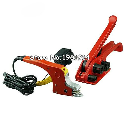 One Set Electric Welding Strapping Heating Tool Manual Seal Strapper Banding Handy Straps Tightener Tensioner Machine 220V
