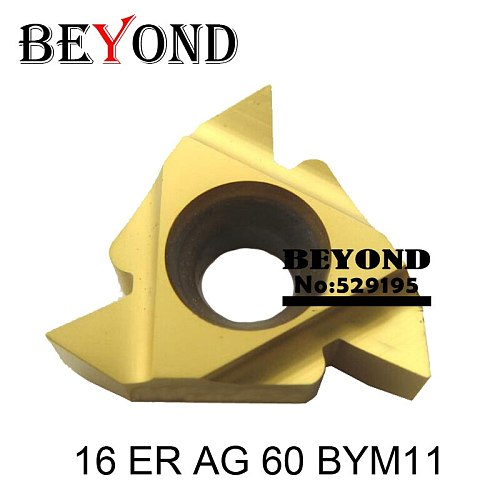 16 ER AG 60 BYM11, Iso Metric Full Profile Carbide Threading Inserts Tungsten Carbide Threading Tool Threading Inserts 16ER AG60