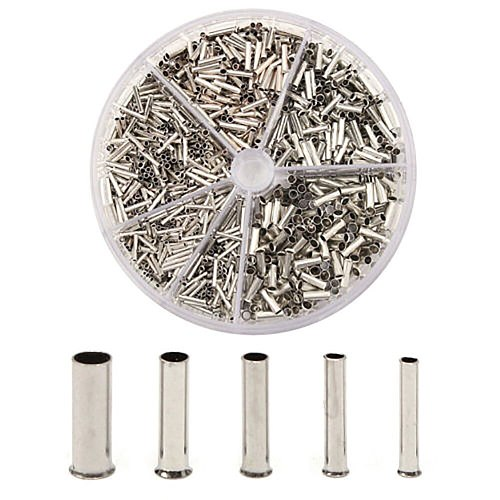 1900pcs Terminal Block Cold-Pressed Terminal Block Set Insulated Cable Lugs Wire End Sleeves Ferrules New