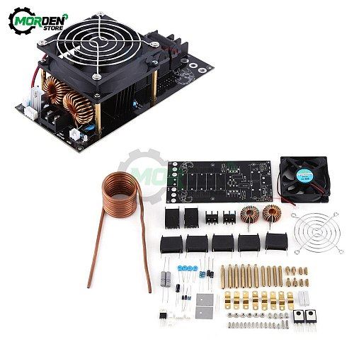 1000W 20A ZVS Tesla Coil Induction Heating Board Module DIY Kit PCB Board Flyback Driver Heater with Cooling Fan