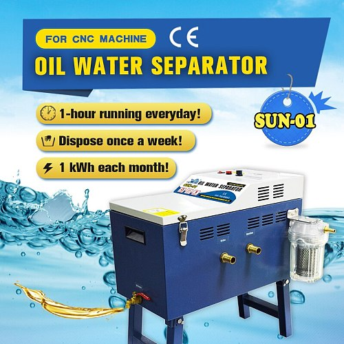 Sun -01 Oil Water Separator Oil Skimmer Coolant Disposal System for CNC Machine  Water Tank Cleaning Purifier Machine