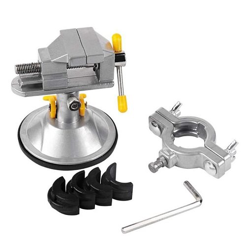 Universal Table Vise Tiger Electric Grinder Self-priming Adjustable  Clamp Table Vise Roatatable Multifunction Alloy Bench Vise