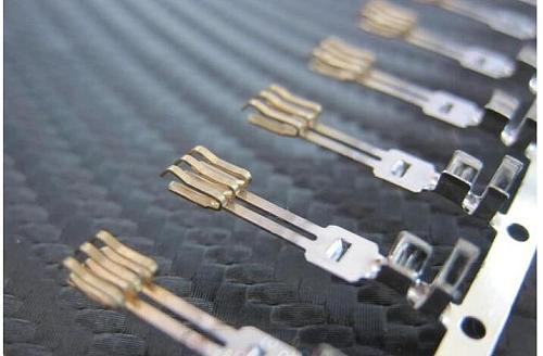 Pin type SATA connector terminals double layer needle /Half coppering