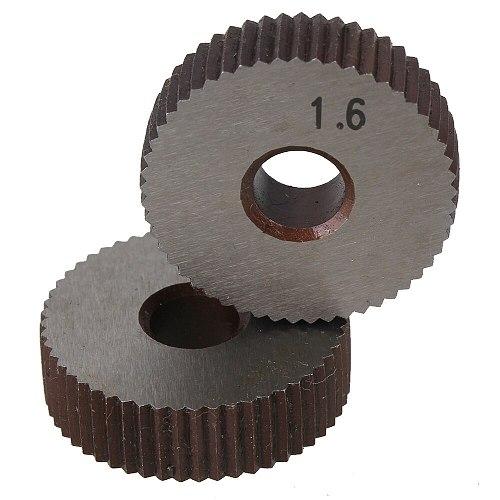 2Pcs Straight grain 1.6mm Gear Hob Wheel knurl HSS wheel Knife Knurled Lathe Embossing wheel Machine Tools Accessories