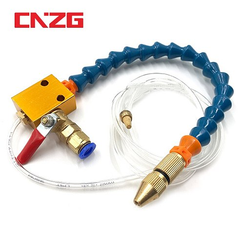 CNC Lathe Lubrication Drill Grind Nozzle 8mm Air Pipe Spray System Heavy Duty Engraving Machine Metal Milling Mist Coolant DIY