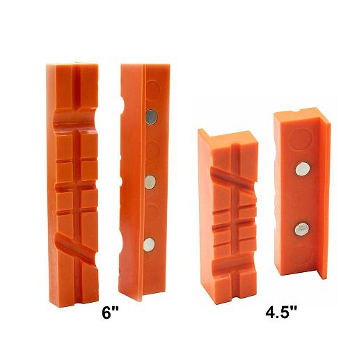 4.5inch/6inch Pair Magnetic Soft Pad Jaw Rubber for Metal Vise Long Pad Bench Vice 4.5 /6  Machine Tools Accessories