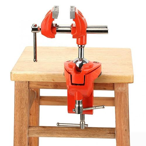 360 Rotating Clamp Vise Adjustable 70mm Jaw Width Vise Table Clamp for Workbench Woodwork table vise