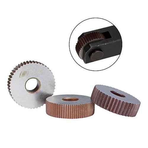 XCAN Linear Knurling Wheel for Metal Lathe HSS Wheel Lathe Knurling Tools 2cs 1.8mm