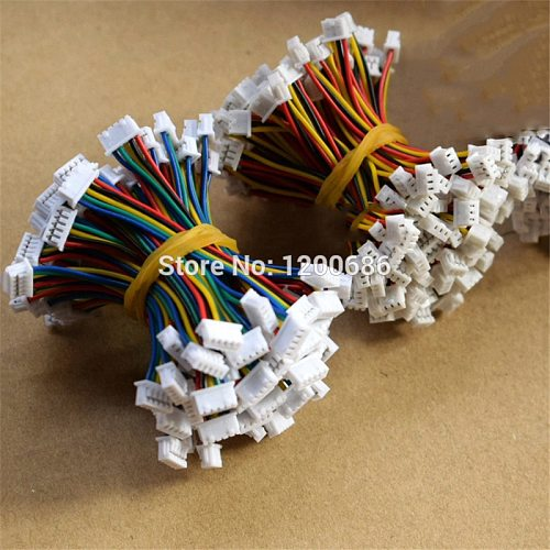 5CM 10 SETS 51021 JST 1.25 1.25MM 2P/3P/4P/5P/6 Pin  Female & Female Double Connector with Flat Cable 50MM 1007 28 AWG