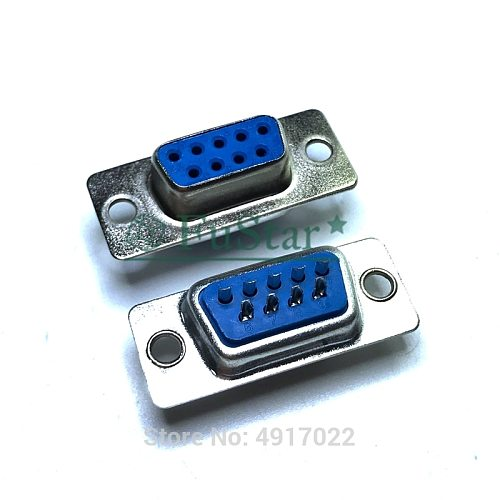 10PCS DB9 Female Male PCB Mount serial port Connector Solder Type D-Sub RS232 COM CONNECTORS 9pin socket 9p Adapter FOR PCB