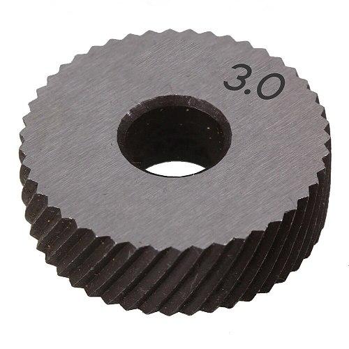 Pair of 3.0mm Gear Hob Wheel Knurled Wheel Knife Textured Knurled Lathe Embossing wheel Machine Tools Accessories