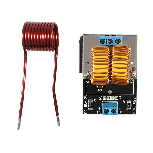 5-12V 120W Mini ZVS Induction Heating Board Flyback Driver Heater DIY Cooker+ Ignition Coil