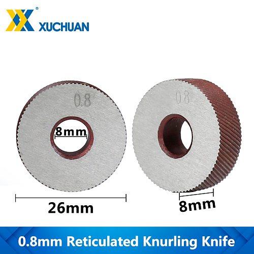 0.8mm Reticulated Knurling Wheel Gear Shaper Cutter Lathe Inner Hole Embossing Wheel Reticulated Knurling Knife