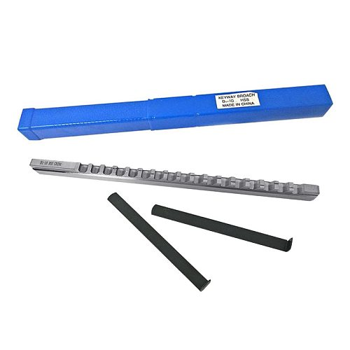 Keyway Broach Cutting Tool Metric Size 10mm D Push-Type with Shim HSS Broaching Cutting Tool  knife for CNC Router