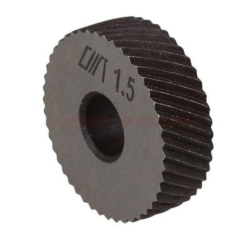Pair of 1.5mm Gear Hob Wheel Knurled Wheel Knife Textured Knurled Lathe Embossing wheel Machine Tools Accessories