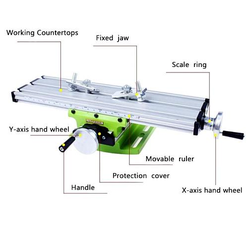 Multi-functional Aluminum Miniature Precision Mini Table Bench Vise Bench Drill Milling Machine Cross Assisted Positioning Tool