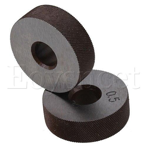2pcs Metal Knurling Tool Diagonal Wheel Linear Knurl 0.5mm Pitch 8 x 26mm