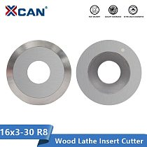 XCAN Round Carbide Insert Cutter 16mm 16x3-30 Degree R8 for Finisher Wood Turning Lathe Tools
