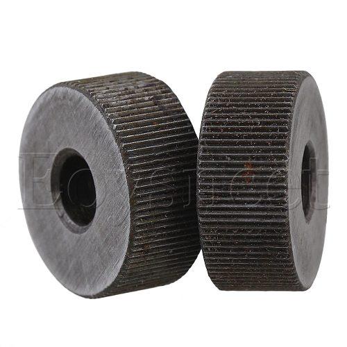 2Piece 0.6mm Pitch 19mm OD Single Straight Coarse Pattern Linear Knurling Wheel