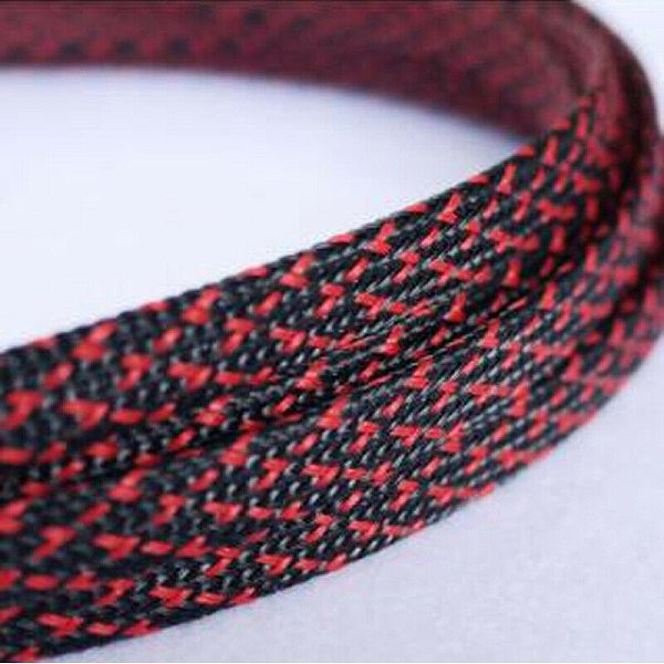 1-30Meters 3-50mm Black & Red Snakeskin Mesh Wire Protecting Nylon Tight PET Expandable Insulation Sheathing Braided Sleeves