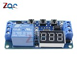 DC 12V LED Digital Display Home Automation Delay Relay Trigger Time Circuit Timer Control Cycle Adjustable Switch Relay Module