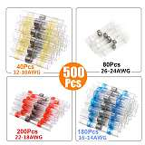 Heat Shrink Soldering Tubes 50-500Pcs Heat Shrink Butt Tube Splices Connector Solder Seal Electrical Wire Terminal for Car Boat