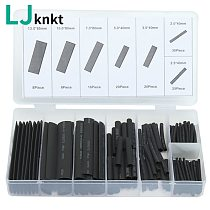 127pcs Heat shrink tube sleeve 2:1 black electronic diy kit Insulation Sleeving Polyolefin Shrinking Assorted Tubing Wire Cable
