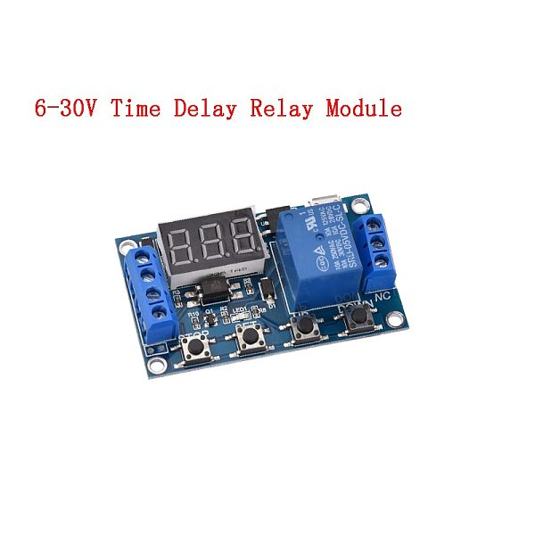 DC 12V 24V Time Delay Relay Dual MOS LED Digital Switch Trigger Cycle Timer Delay Relays Circuit Board Timing Control Module DIY