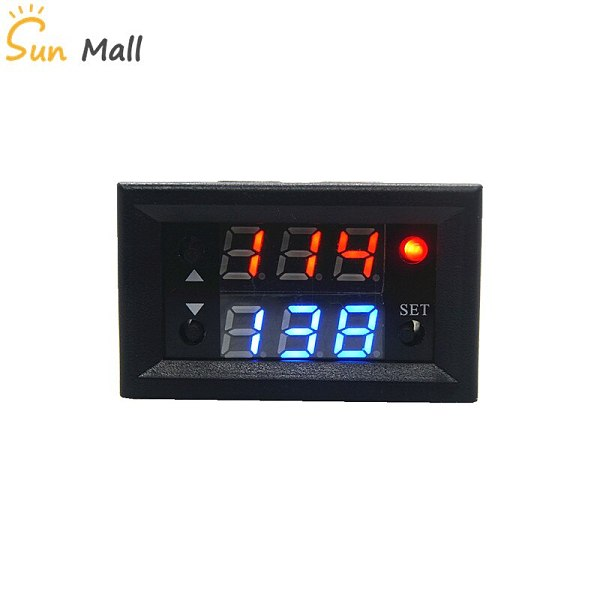 T2302 12V Timing Delay Timer Relay Module Digital LED Dual Display Cycle 0-999 Hours 20A