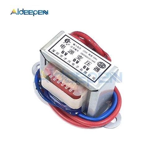 AC 6V 9V 12V Output Voltage 1W EI Copper Core Input 220V 50Hz~60Hz Single Voltage 2 Line Copper Power Transformer