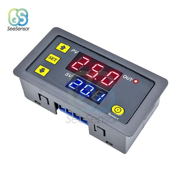 AC 110V 220V Digital Time Delay Relay LED Display Cycle Timer Control Switch Adjustable Timing Relay Time Delay Switch