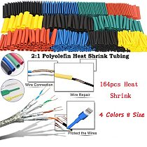 164pcs Heat shrink tube Insulation Sleeving termoretractil Polyolefin Shrinking Assorted set 2:1 Heat Shrink Tubing Wire Cable