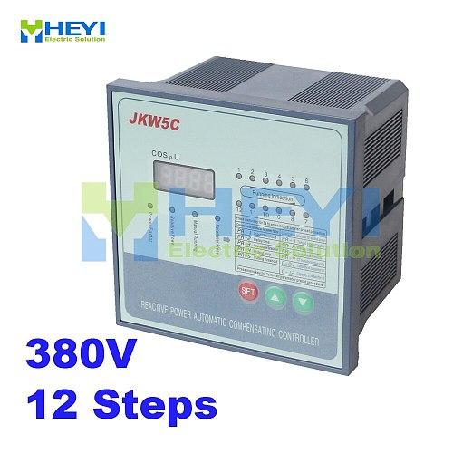 JKW5C power factor regulator compensation controller for power factor capacitor 12steps 380v