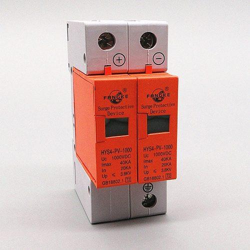SPD DC 500V 800V 1000V 2P 20~40KA Surge Protective Protection Device Arrester Low Voltage House 2 Poles Surge Protector