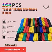 70/127/140/164pcs  Heat Shrink Tube able sleeve tubing Polyolefin tube heat shrinkable tube tiks Insulated Thermoresistant tube