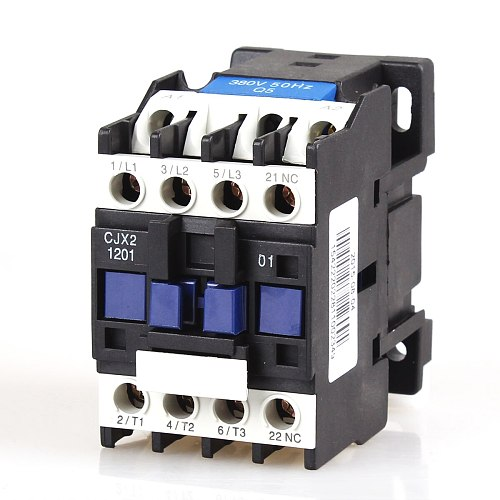 CJX2-1201 12A 3P+NC Magnetic Ac Electric 3 Pole Contactor For Unit 3 Phase 380V 220V 110V 36V 24V Normally Closed Contactor