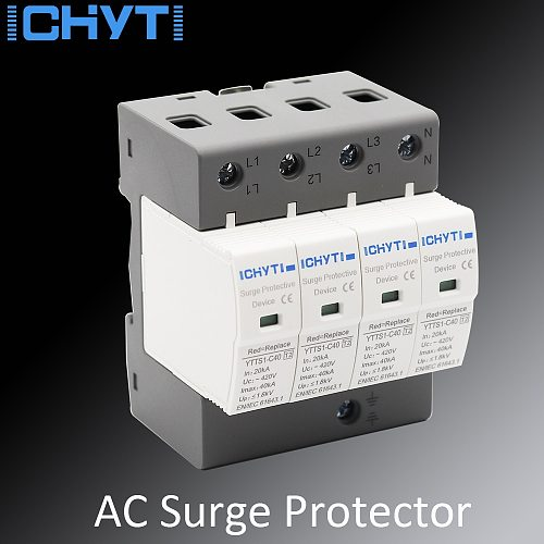 ICHYTI Surge Protector SPD AC 4P 275V 385V 420V  lightning protection surge arrester surge protective device