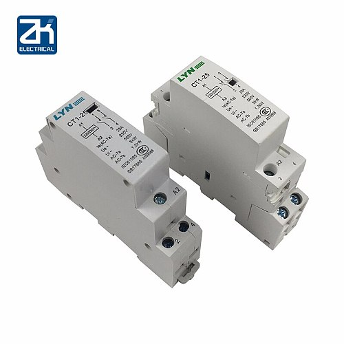 CT1 2P 16A 25A 220V/230V 50/60HZ Din Rail Household Ac Contactor 2NO for Household Home Hotel Resturant
